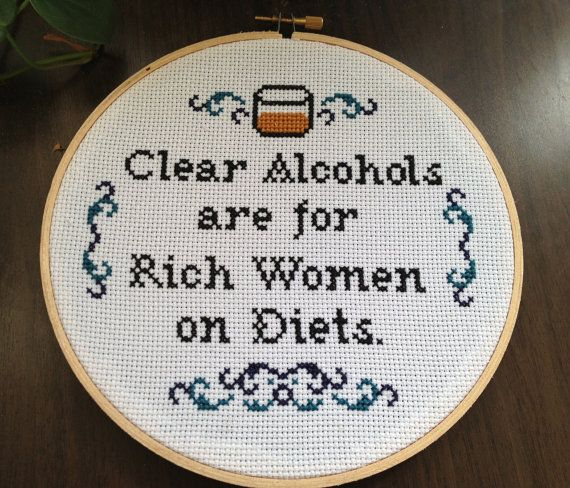 PATTERN Ron Swanson Quote Clear Alcohols Are For by stephXstitch