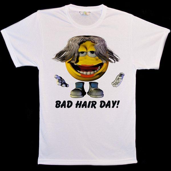 Emoticon Bad Hair Day: Animal Face Bad Hair Day T-Shirts
