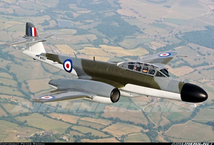 Air to air with one of only 3 Gloster Meteors still flying