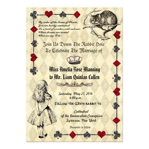102 Best Alice In Wonderland Wedding Invitations Images On
