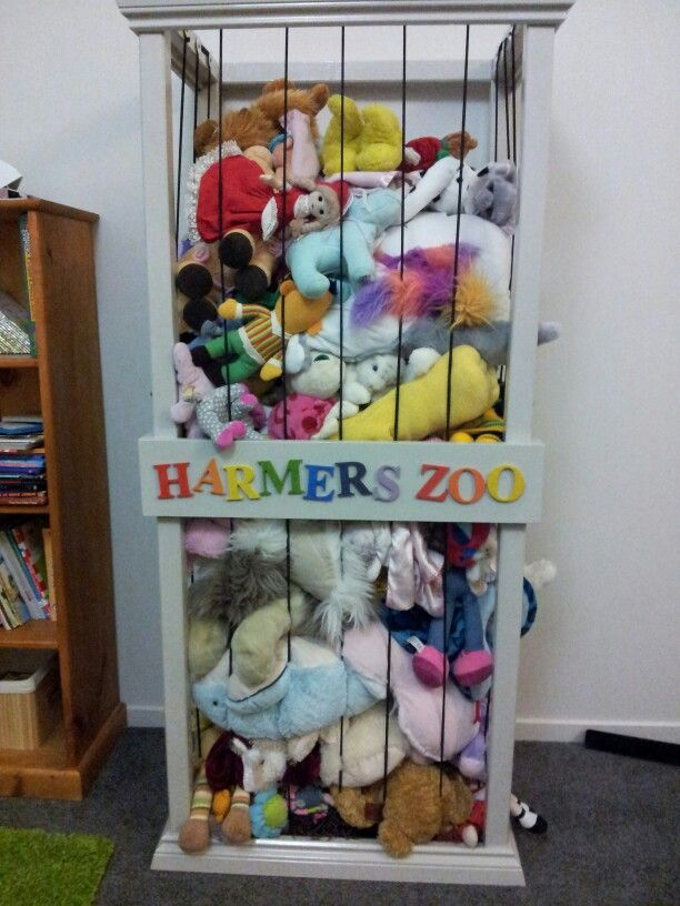 Soft toy storage really want to make one of these mira for Storage solutions for toys small rooms