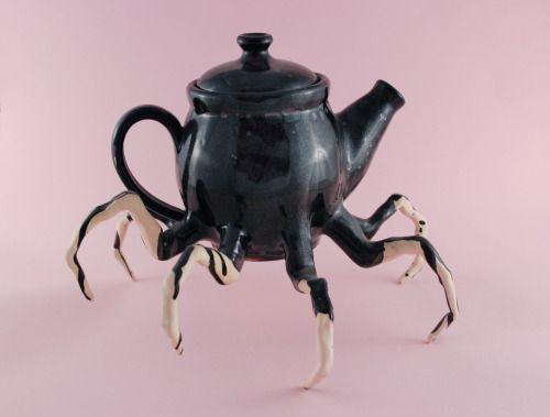 carnival-goldfish:Spider legs, white stoneware, 2014