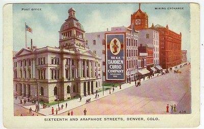 1909-Denver-Colorado-huge-Tammen-Curio-Company-advertising-sign-postcard-maker
