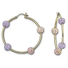 Pop Vintage Rose Hoop Pierced Earrings presenting a stunning gradation of feminine pastel colors #swarovski