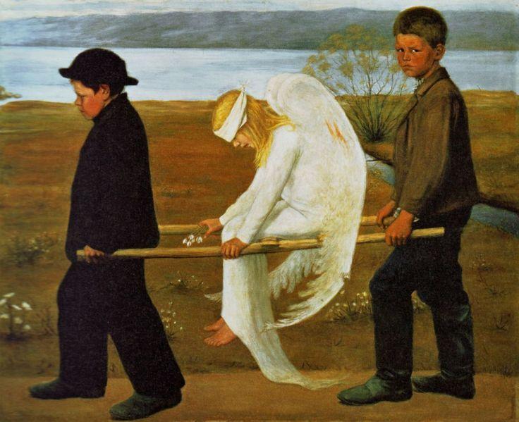 Wounded Angel Hugo Simberg
