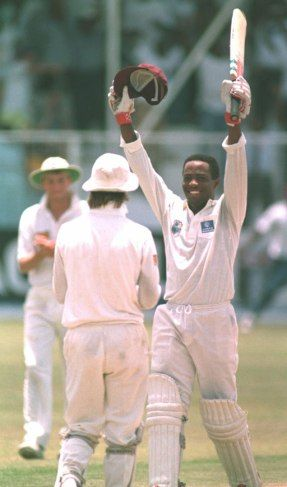 Brain Lara - scoring the first and only 400 runs, the highest individual score by a batsman in test match cricket