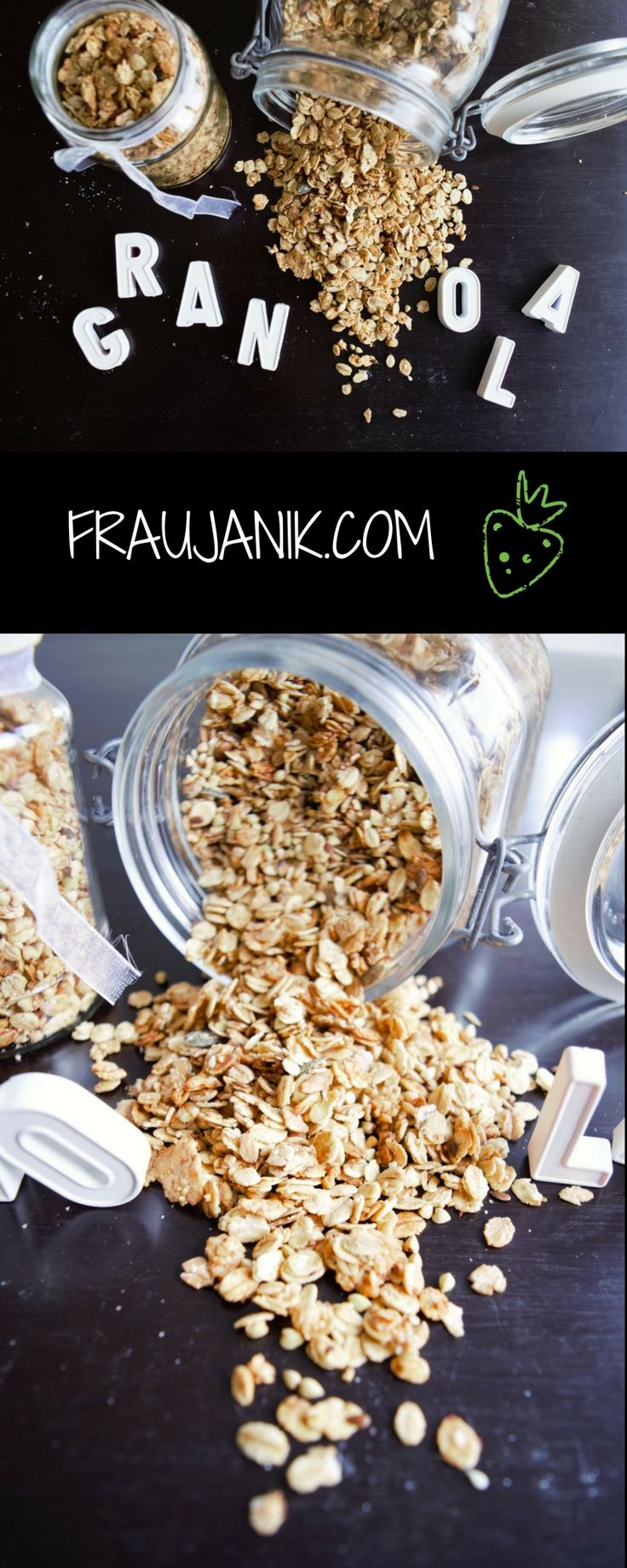 gesundes selbstgemachtes Granola / Knuspermüsli... einfach & schnell gemacht! Sooo crunchy!!