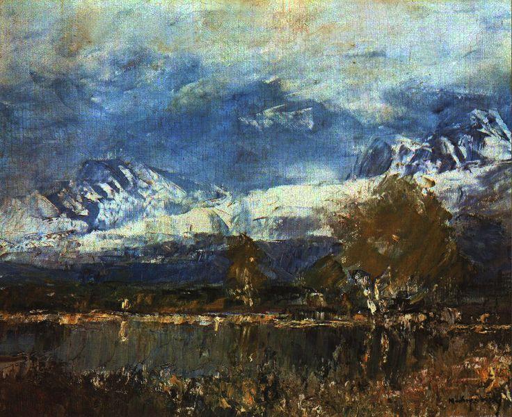 Mednyánszky László (1852-1919) - Lake in a Mountins