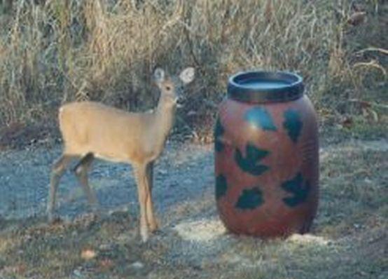Aunt Molly's Gravity Deer Feeder, Also Turkey and Hog Feeders, leaf pattern #AuntMollys