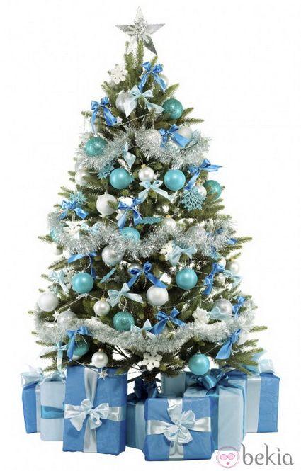 decoracin navidea en blanco y plateado