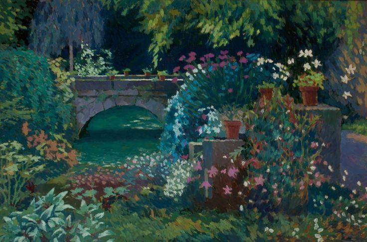 Annabel Gosling  —  The Bridge at the Mill House, Sarlat (800x528)