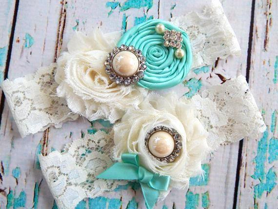 Garter / Wedding Garter / Tiffany Blue by CutieButtsBoutique, $24.99