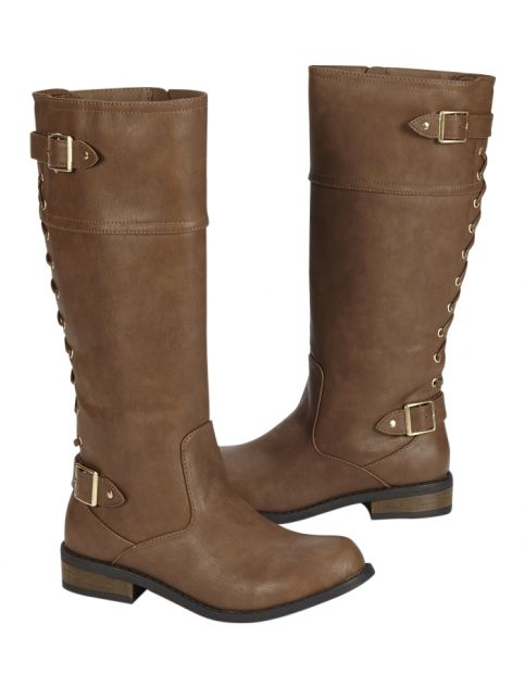 Lace-up Back Rider Boots | Girls Boots Shoes | Shop Justice