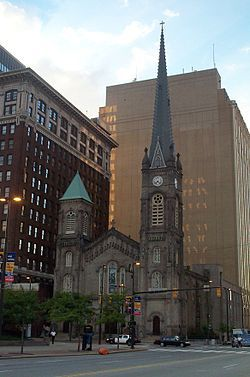 The Old Stone Church is a historic Presbyterian church located in downtown Cleveland, Ohio, and is the oldest building on Public Square. It ...