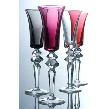 Colorful Champagne Flute Stemware