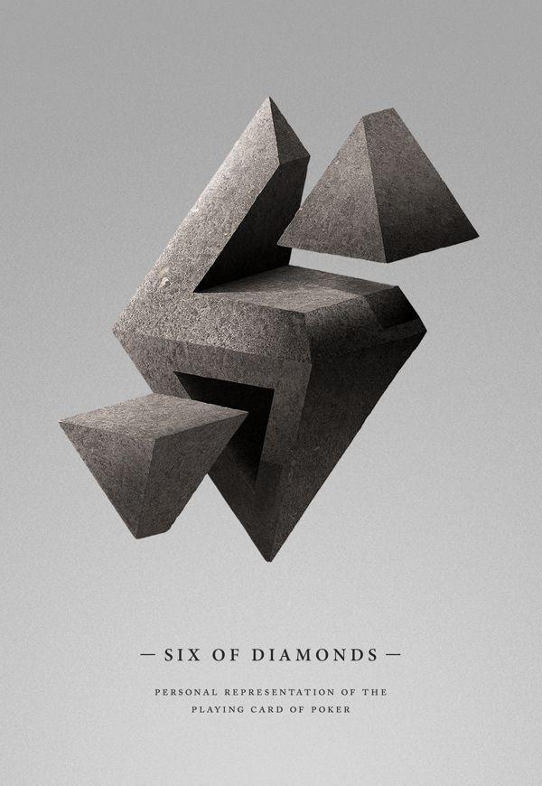 Six of Diamonds by Manel Portomeñe, via Behance