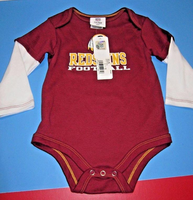 NWT! L/S Baby/Toddler  NFL Washington Redskins Football Infant Creeper Size 18 M #NFLTeamApparel #WashingtonRedskins