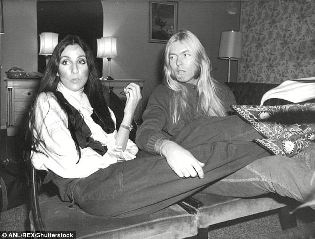 In 1975, Cher and Allman (above) married three days after she divorced her husband and singing partner, Sonny Bono. Their marriage was tumultuous from the start