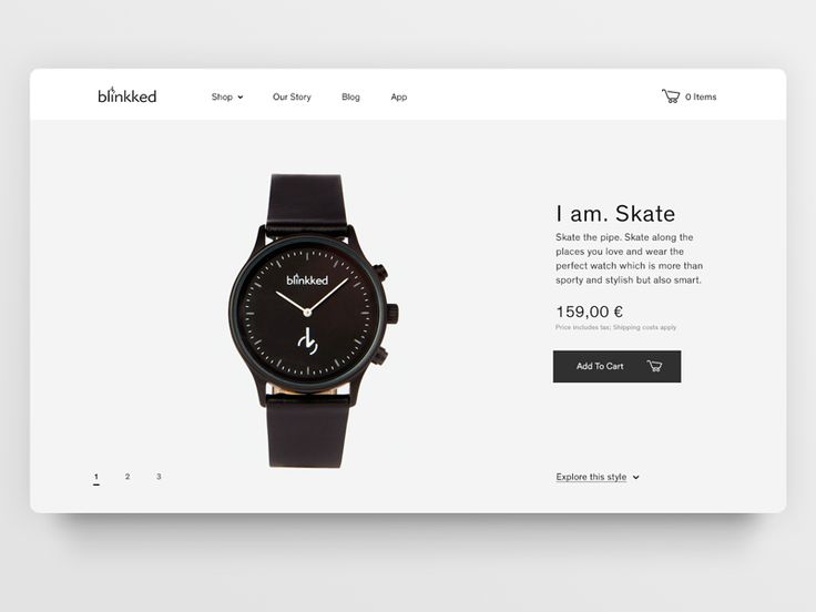 Watch — Product Page