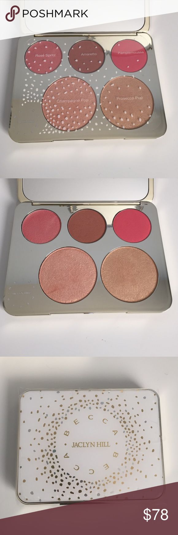 Becca Champagne Collection Face Palette Jaclyn Hill Becca Champagne Collection Face Palette. Has been lightly used, two blushes have not been used/swatched. BECCA Makeup