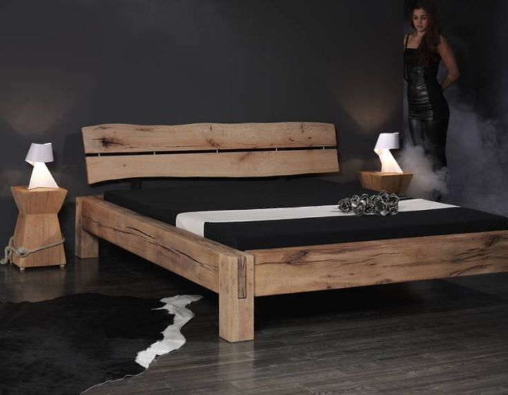 bauanleitung balken-bett | bedrooms, bed frames and woods - Dream Massivholzbett Ign Design