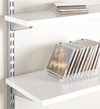 Our White Melamine Shelves are specifically designed to work perfectly with our elfa Easy Hang or freestanding Shelving Systems as well as our wall-mounted shelving components. They're available in a variety sizes to fit both your needs and your wall space. Use elfa Solid Shelf Brackets and Shelf Connectors when installing with our elfa Shelving Systems. Or, choose a wall-mounted bracket that suits your personal style to create a shelving solution that's specific to you.