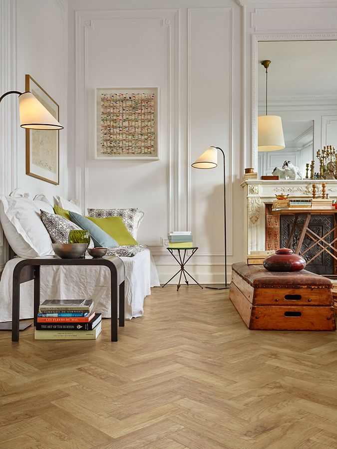 A lovely family living room with a parquet wooden floor from www.michael-john.co.uk