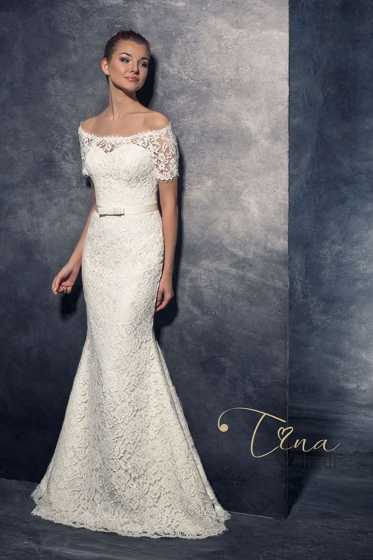 Čipkované svadobné šaty v štýle morská panna
