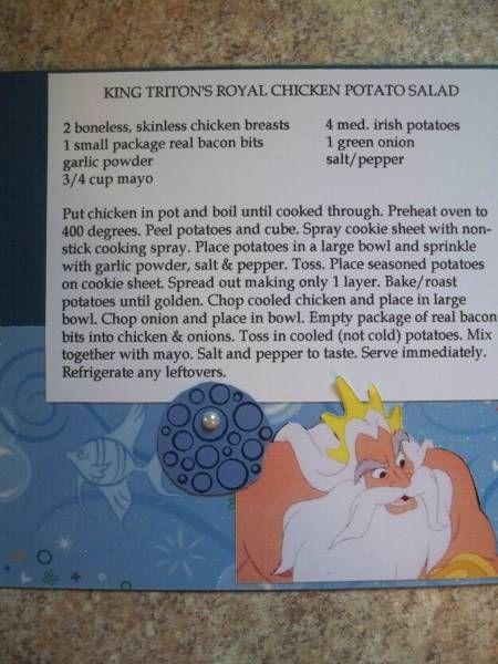 disney recipe - Homemade Cards, Rubber Stamp Art, & Paper Crafts - Splitcoaststampers.com