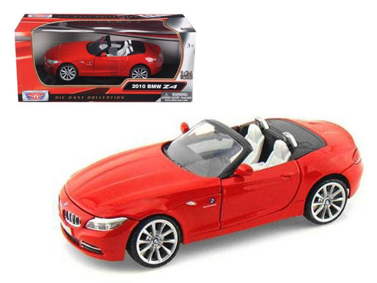 2010 bmw z4 convertible red 124 diecast model car by motormax