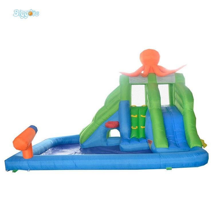 (1110.00$)  Buy here - http://aig49.worlditems.win/all/product.php?id=32718495516 - DHL Free Shipping Inflatable Bouncer Water Fun Octopus Jumper with Long Slide with Water Cannon for Kids