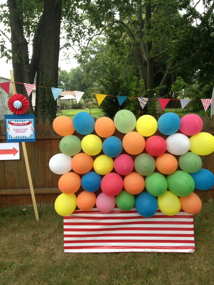 balloon burst carnival game carnival party pinterest