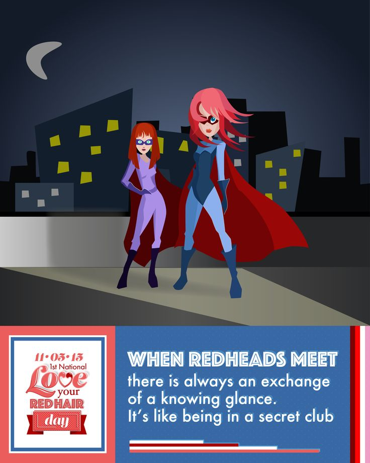 6 days until National Love Your Red Hair Day! Who can relate to this quote? The redhead secret club.