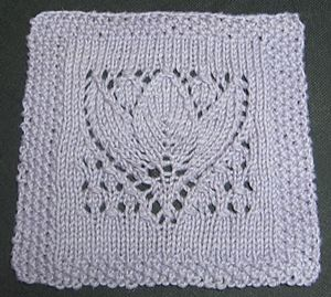 Margaret Tulip Square: Free Knit Afghan Square roundup on Moogly!