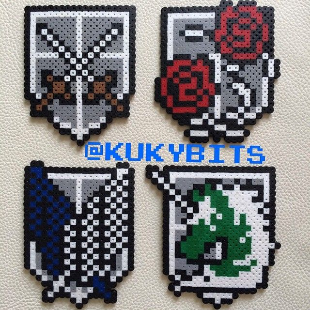 Attack on Titan hama beads by KukyBits