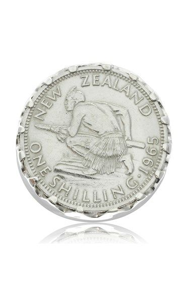 Sterling silver full sovereign ring with NZ shilling