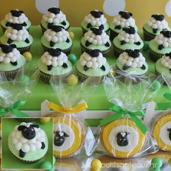 Lamb themed cupcakes and cookies!