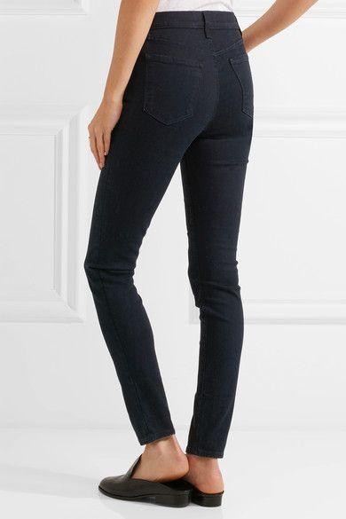 J Brand - Maria High-rise Skinny Jeans - Dark denim - 23