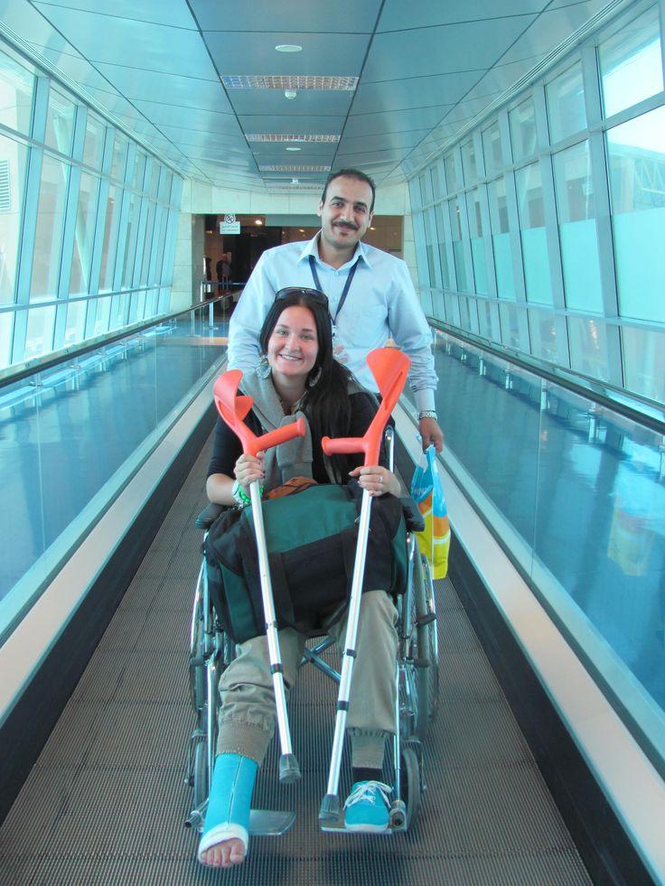 Injured traveller in Egypt