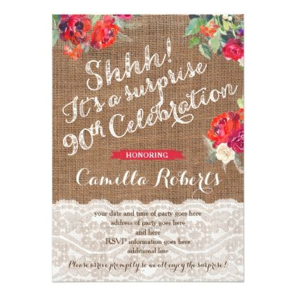 The 25 best 90th birthday invitations ideas – 90th Birthday Invitation Cards