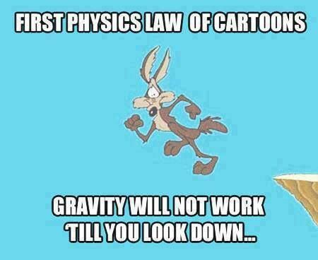 Cartoons gravity law