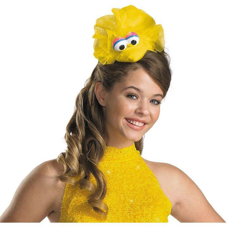 Adult Sesame Street Big Bird Costume Headband, Women's, Yellow
