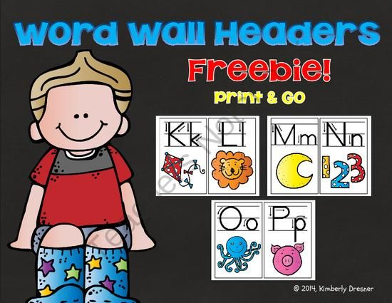FREEBIE! Word Wall Headers with Directional Arrows. Print & Go! from Kimberly's Kindergarten on TeachersNotebook.com -  (15 pages)  - Decorate your classroom in style with these cute, word wall headers. Each header is 1/2 page in size and ready to be printed in color. Also useful for letter recognition games, or handwriting practice