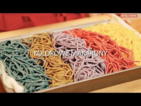 Kolorowe makarony - YouTube