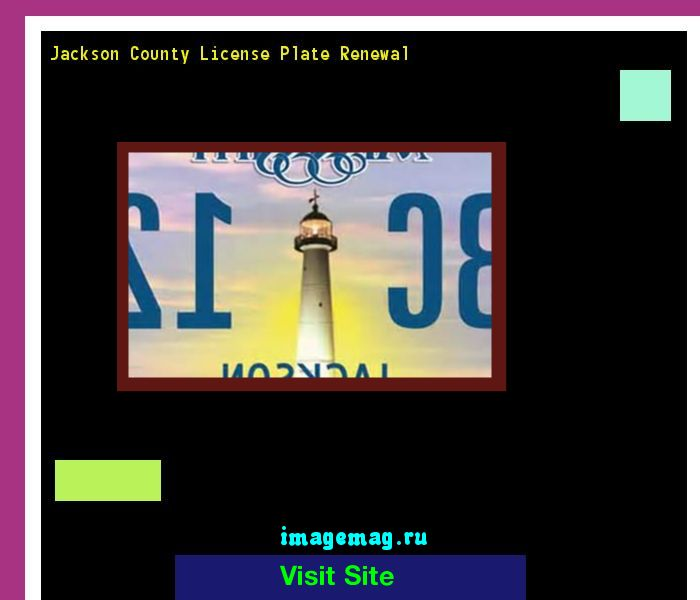 Jackson county license plate renewal 180448 - The Best Image Search