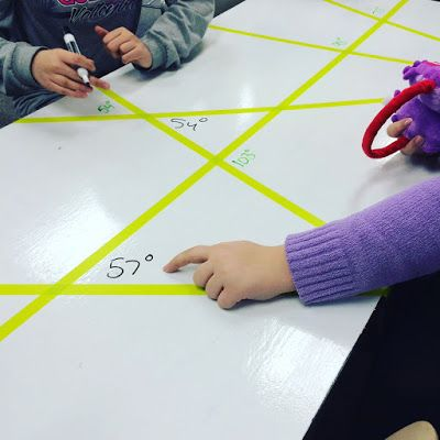 Angles, Triangles, and the Start of Geometry in 6th Grade Math! Blog post about some fun new middle school math activities and classroom additions relating to geometry!