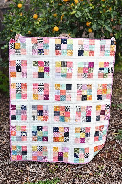 Scrappy Postage Stamp Baby Quilt Pinterest Babies Scrap And