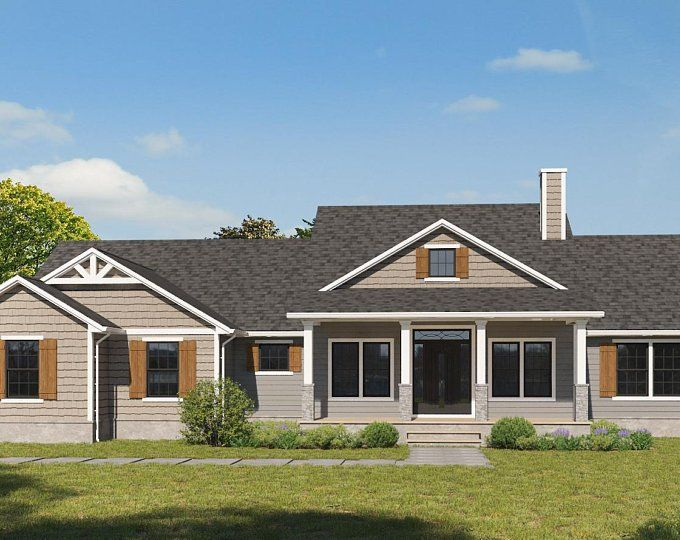 The Ellermont Custom Craftsman House Plan With Images Craftsman House Craftsman House Plan House With Porch