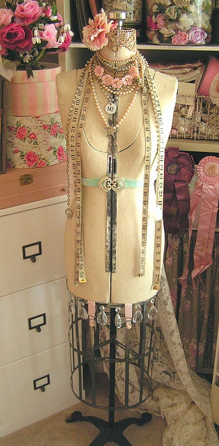 ...and in the corner of my sewing room I will have a dress form... just for inspiration...