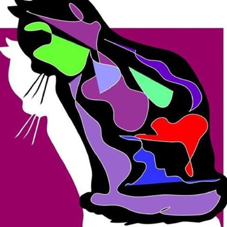 stampa, ritratto, illustrazione, arte, disegno della parete gatto di CURIOUSILLUSTRAZIONI su Etsy
